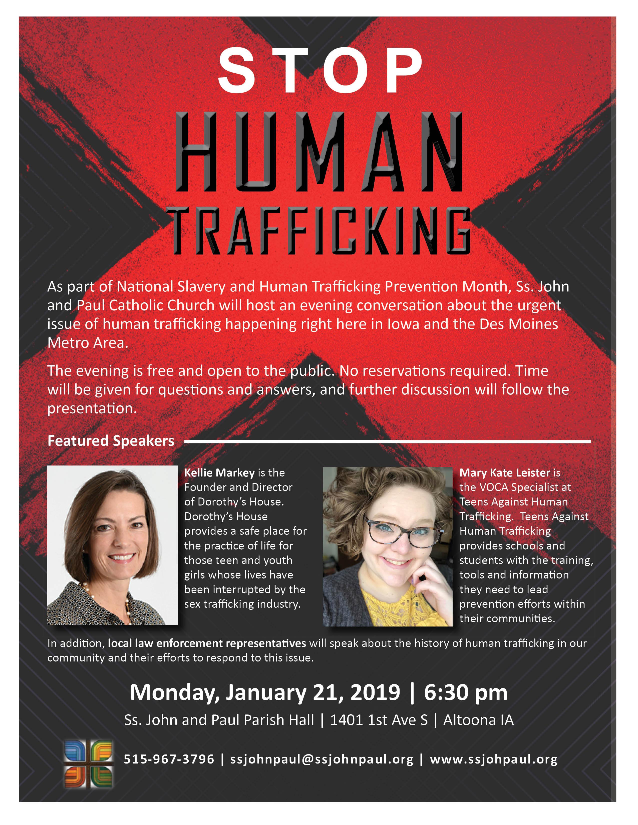 Iowa's Human Trafficking Problem Presentation/Discussion