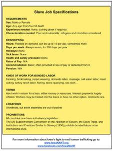 Slave Job Specifications
