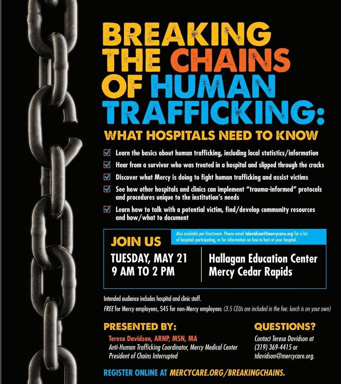 Human Trafficking Conference for Healthcare Providers | Network Against  Human Trafficking and Slavery
