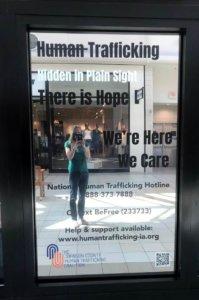 human trafficking hidden in plain sight wall display