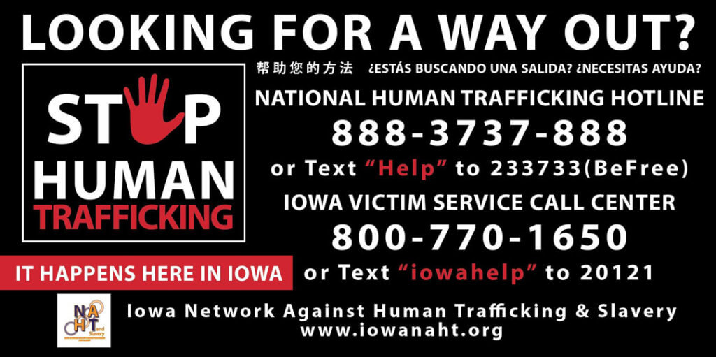 Iowa Human Trafficking Rescue Stickers