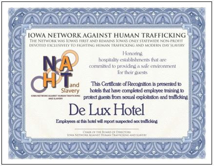 HotelMotel Training Of Trainers  Network Against Human